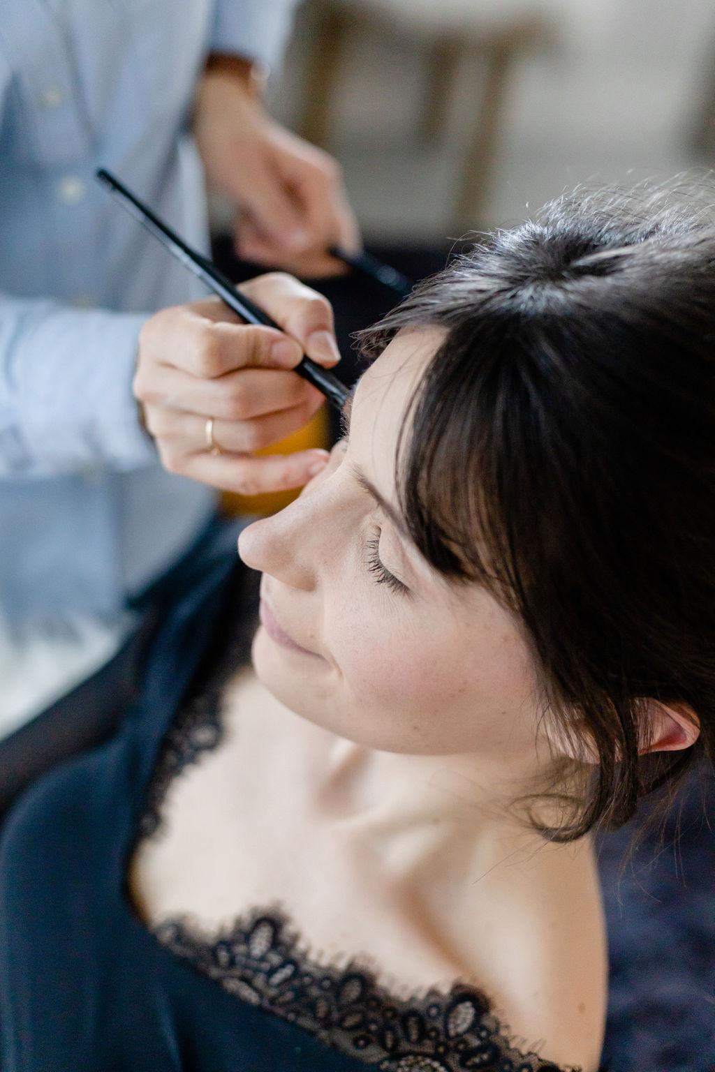 maquillage mariée longue tenue